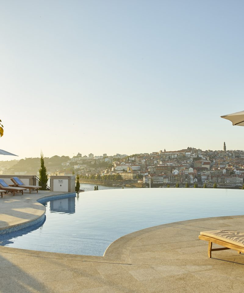 Another panoramic view from Infinity Pool Outdoor to Porto at Nightat Yeatman Hotel Relais & Chateaux