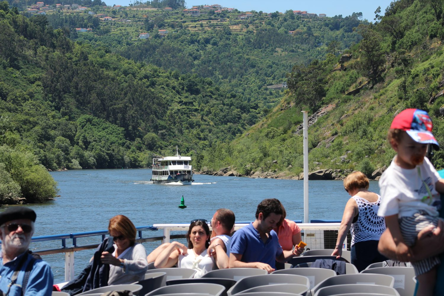 Another boat on the Douro River