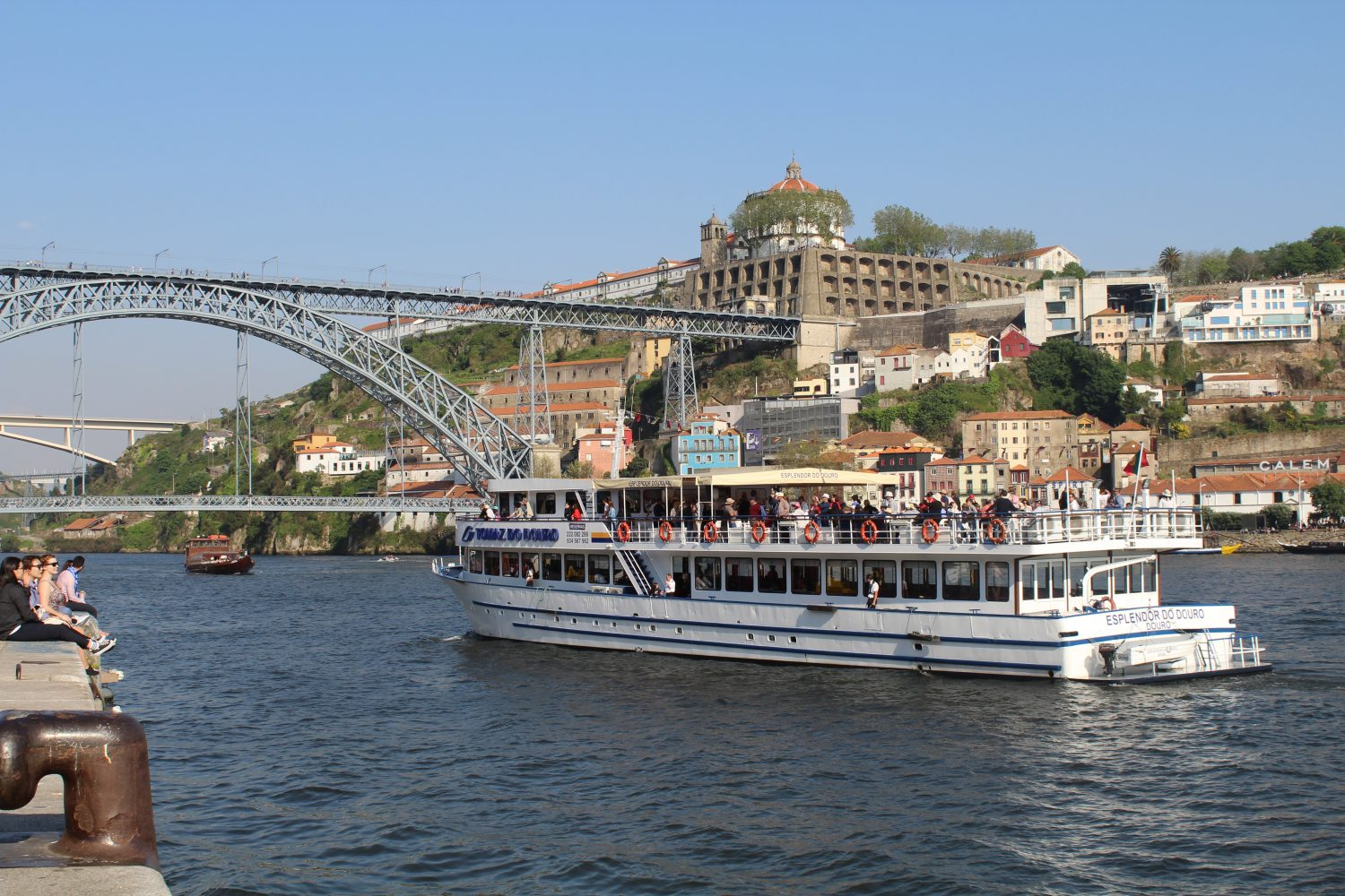 Boat douro cruise view over Luis I bridge