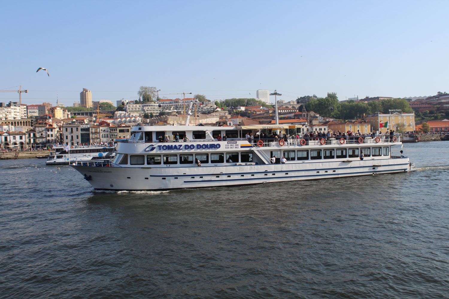Boat douro cruise with view over Vila Nova de Gaia
