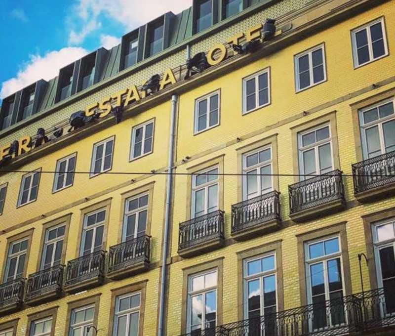 Frontage of the Hotel Pestana Porto A Brasileira
