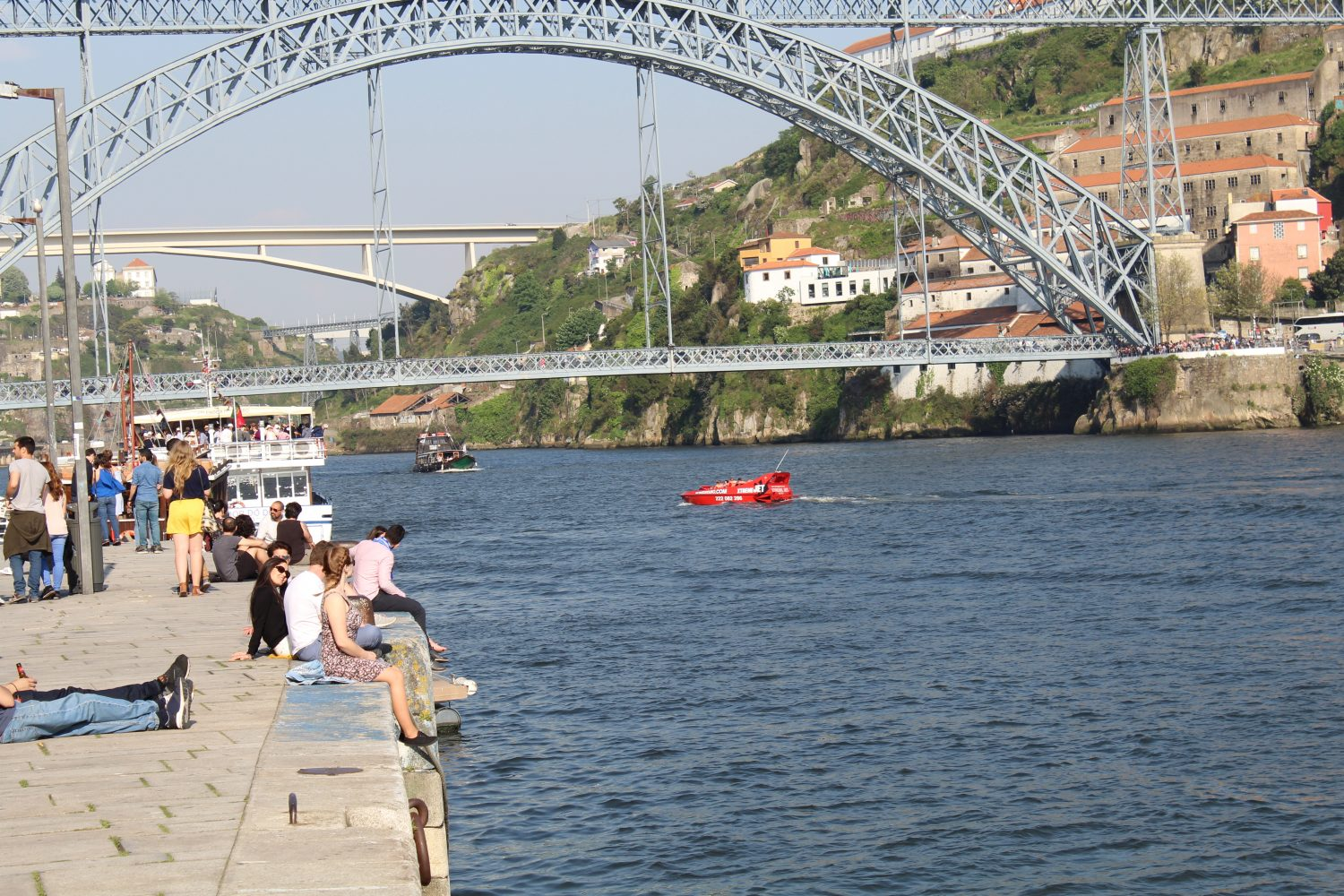 Jet Boat at Douro River near Ponte Luis I