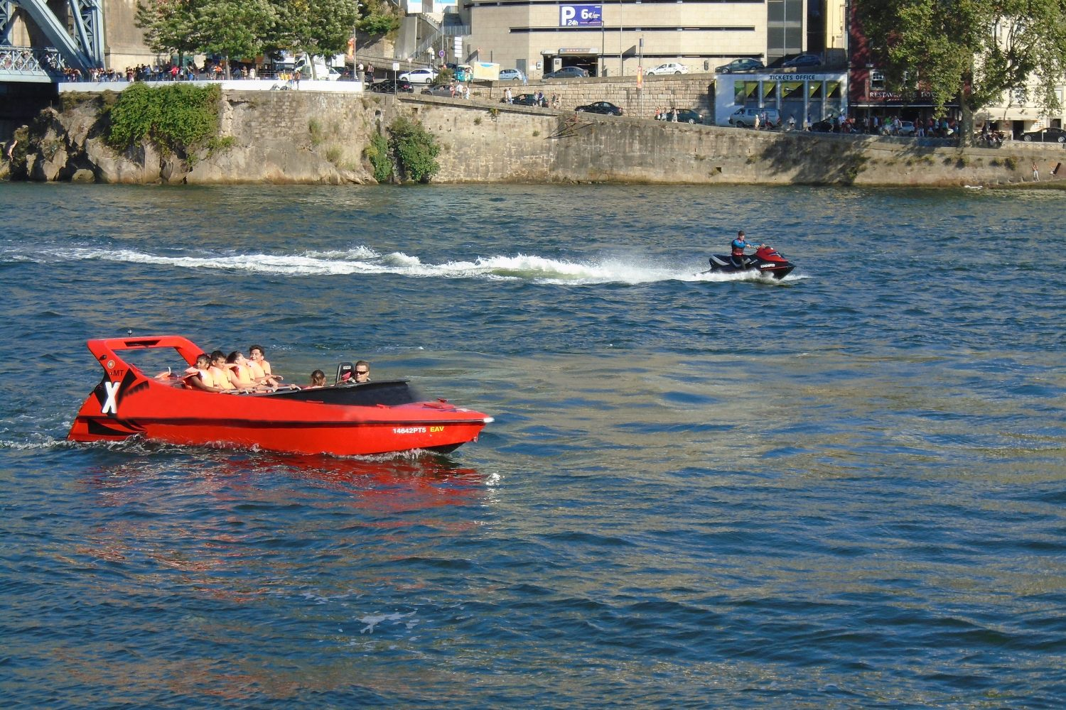 Jet boat and jet ski at Douro River Porto