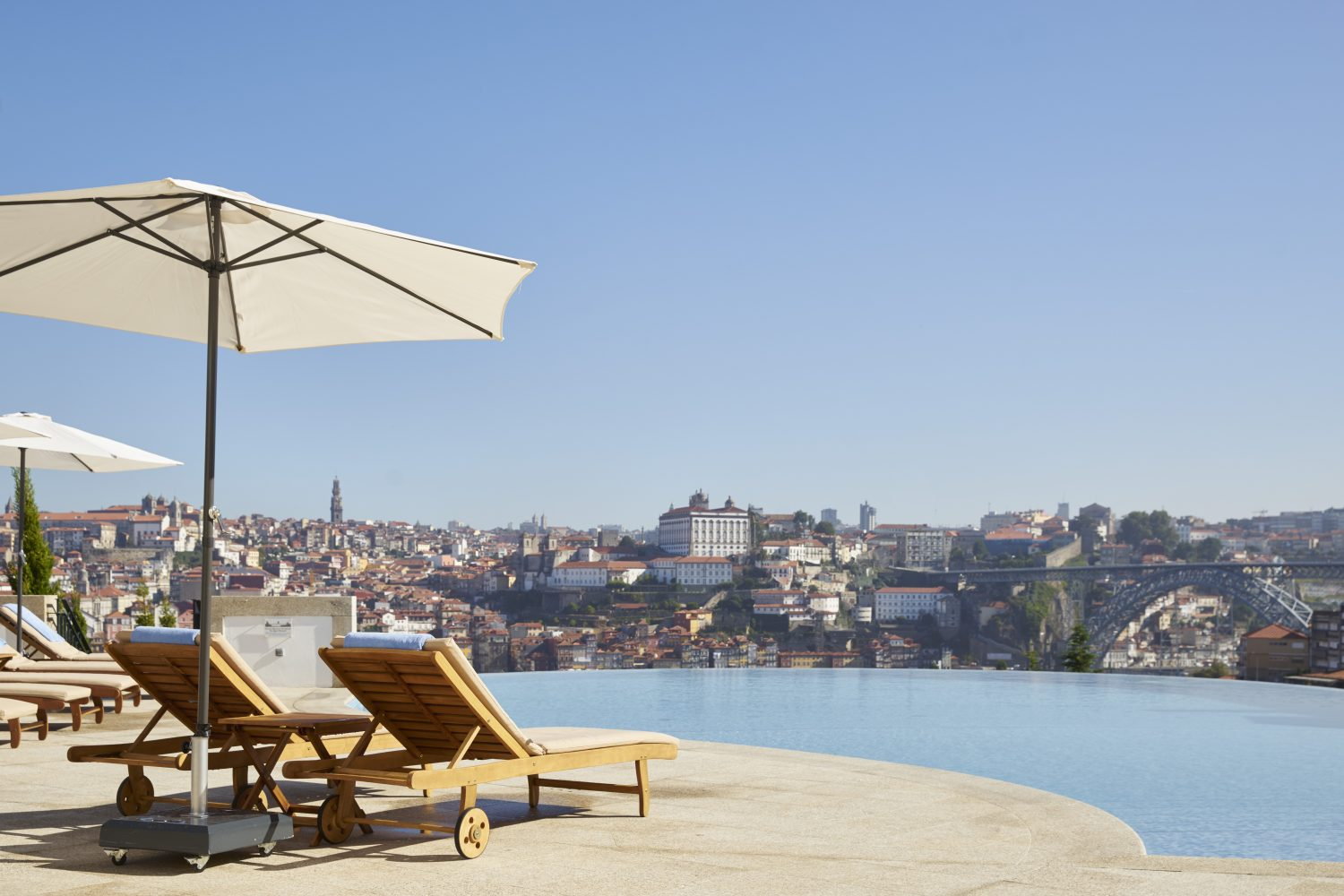 View to Ponte Luis I from Infinity Pool Outdoor at Yeatman Hotel Relais & Chateaux
