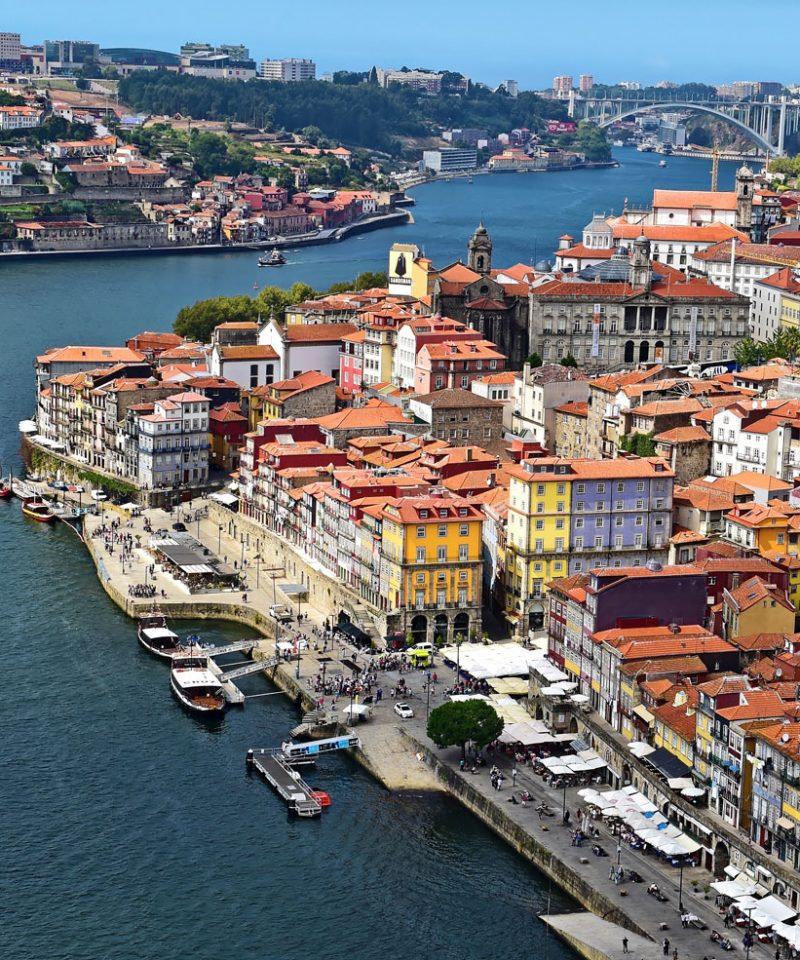 View to Ribeira and to the Hotel Pestana Vintage Porto
