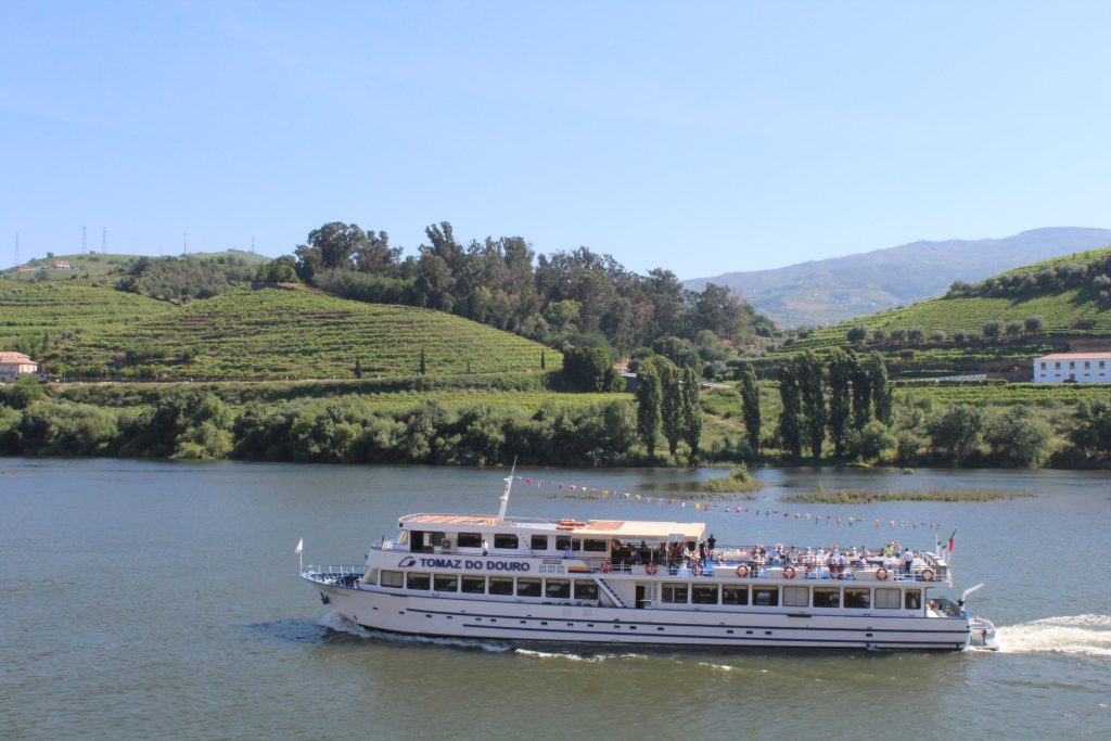 Boat in the Douro River at Regua