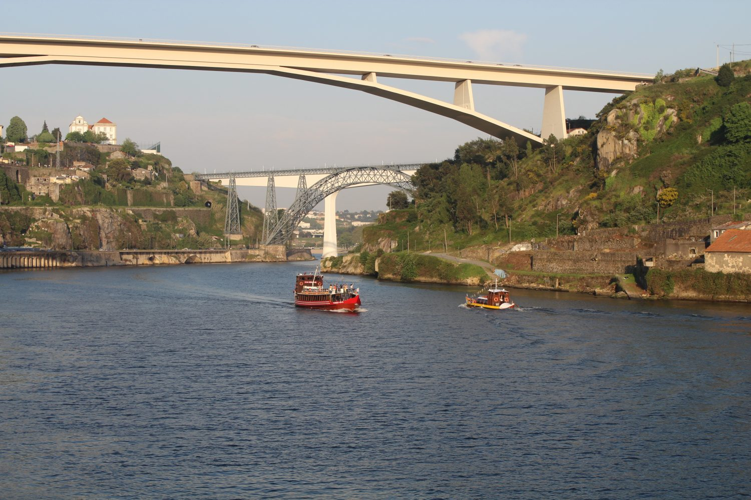 Douro cruise with lunch or dinner on board passing over the bridge