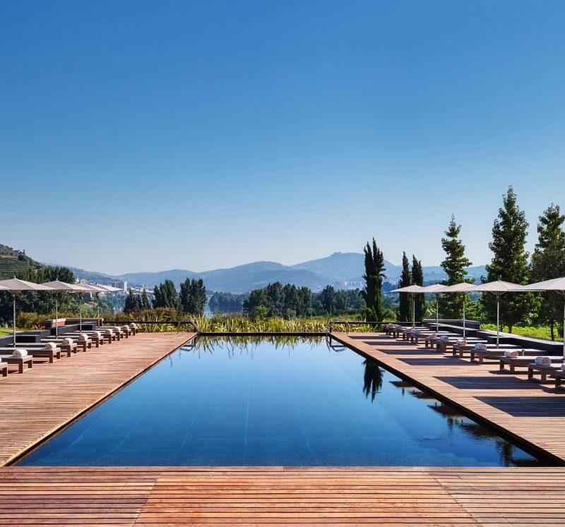 Swimming pool at the hotel six senses douro