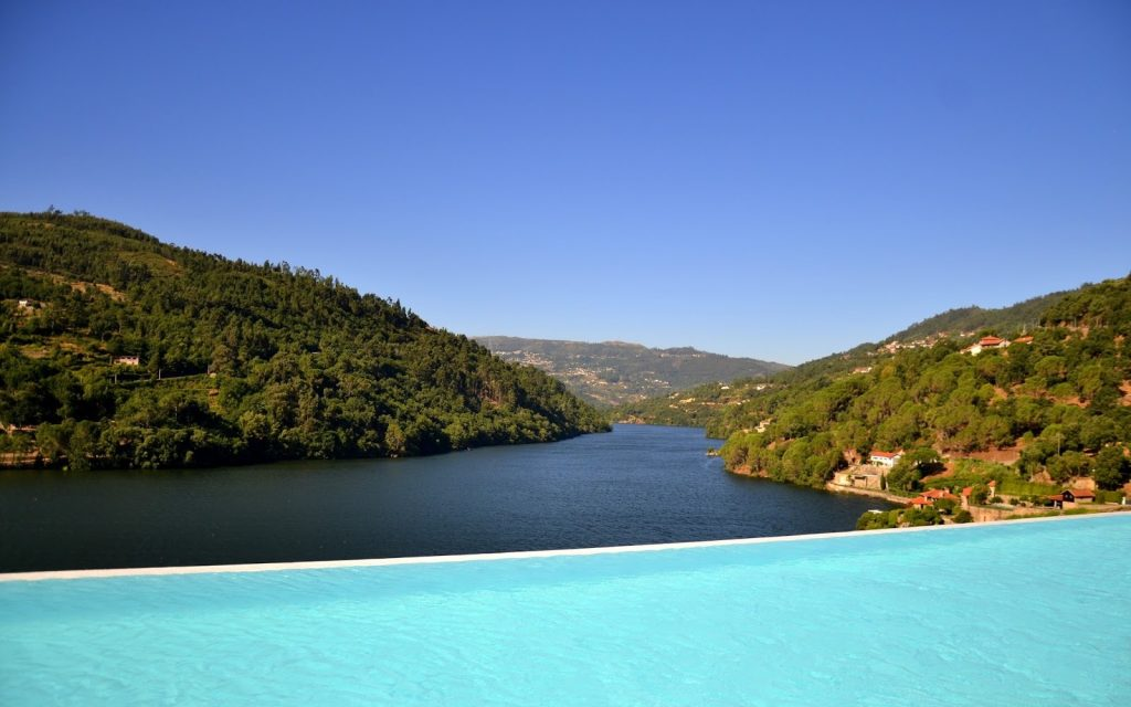 View from the piscine at the Douro Royal Valley Hotel and Spa