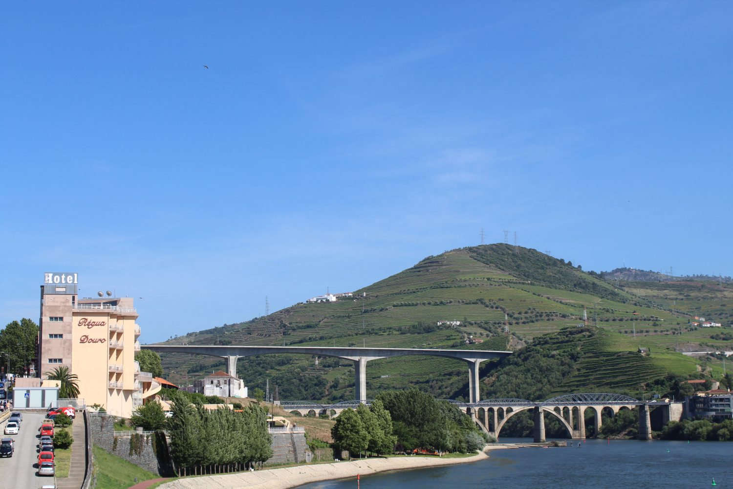 View to Hotel Regua Douro from Cais da Regua